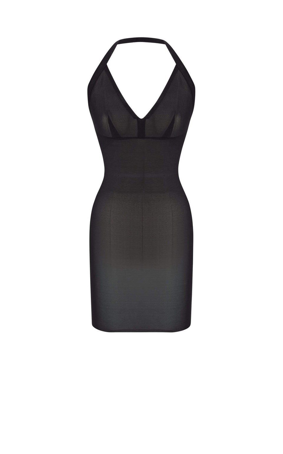 Powermesh Halter Mini Dress In Black from Roland Mouret