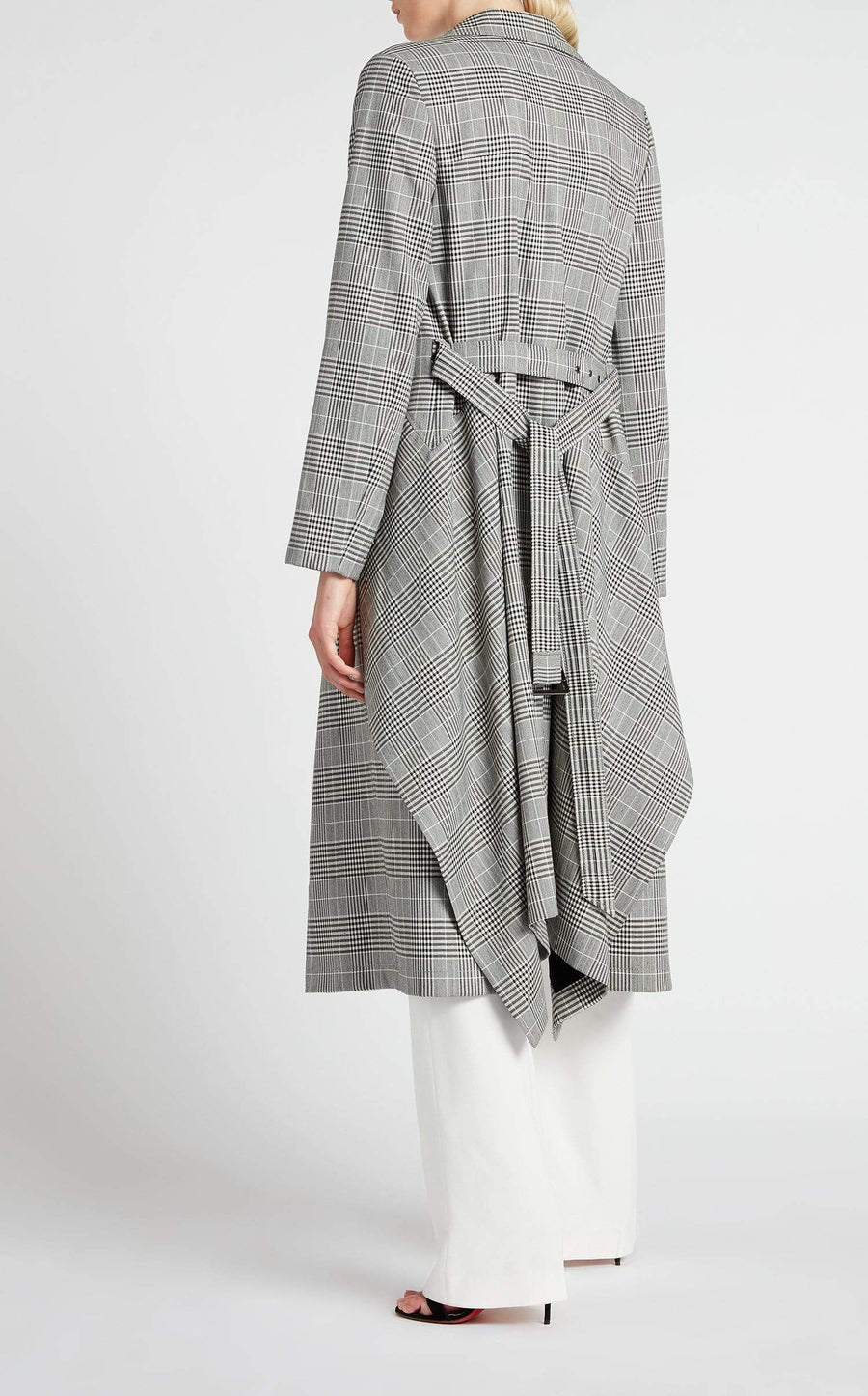 Pullman Coat In Monochrome from Roland Mouret