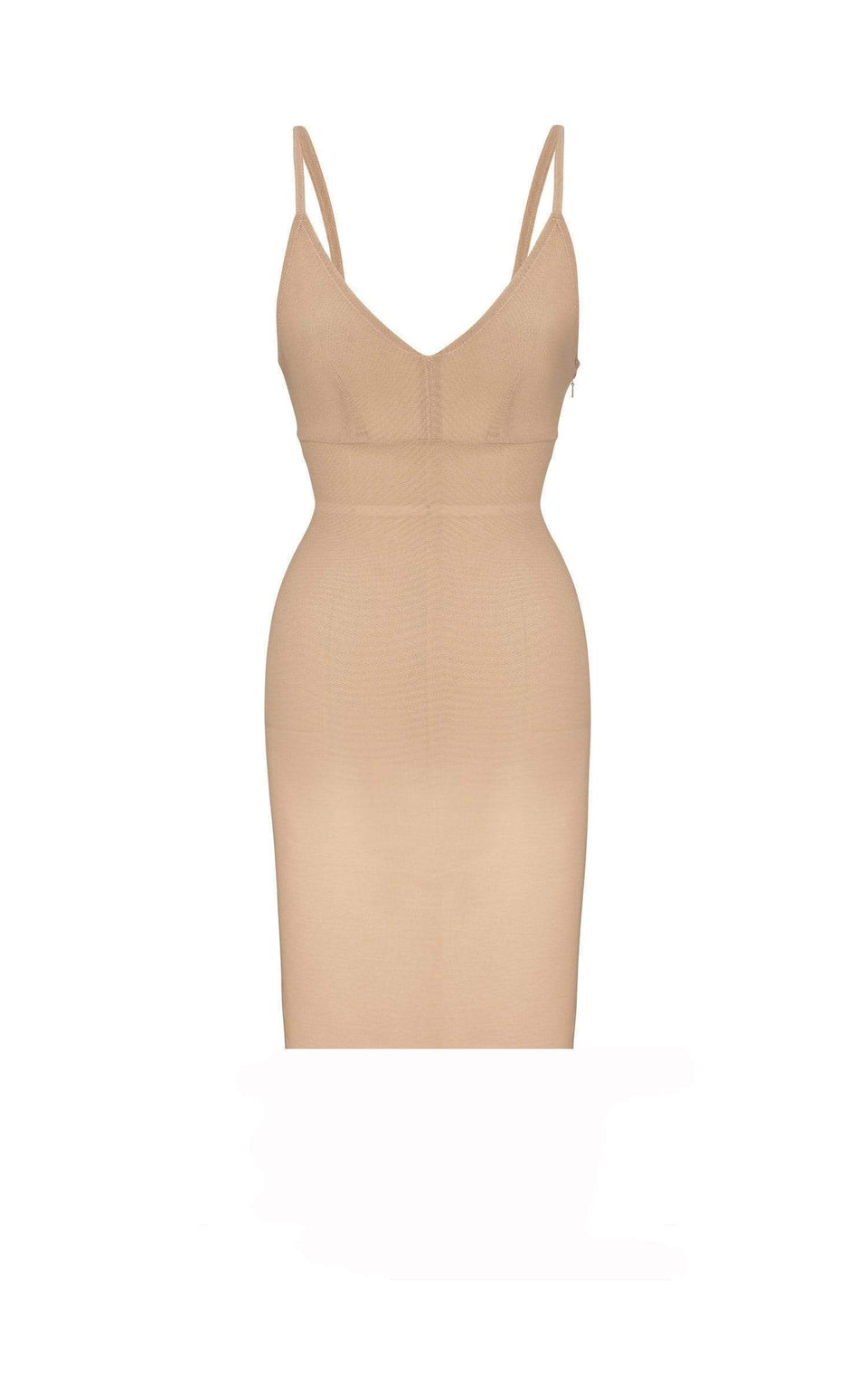 Powermesh Mini Dress In Flesh from Roland Mouret