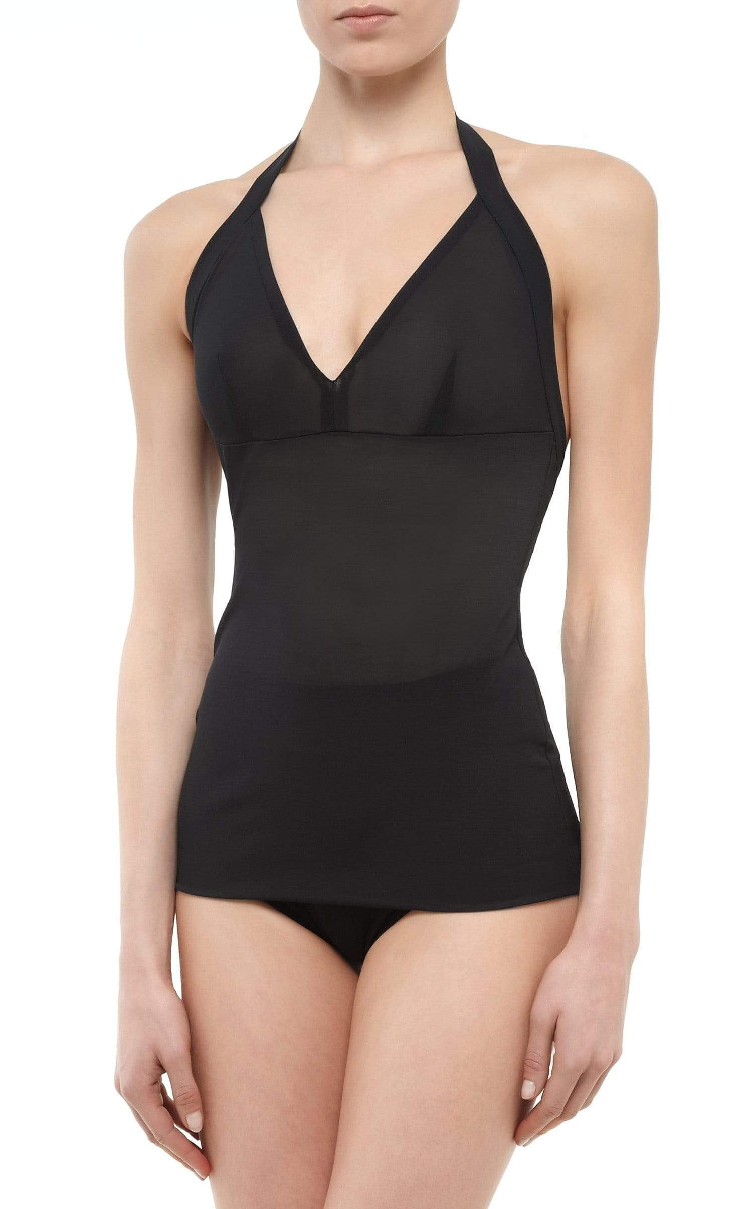 Powermesh Halter Top In Black from Roland Mouret