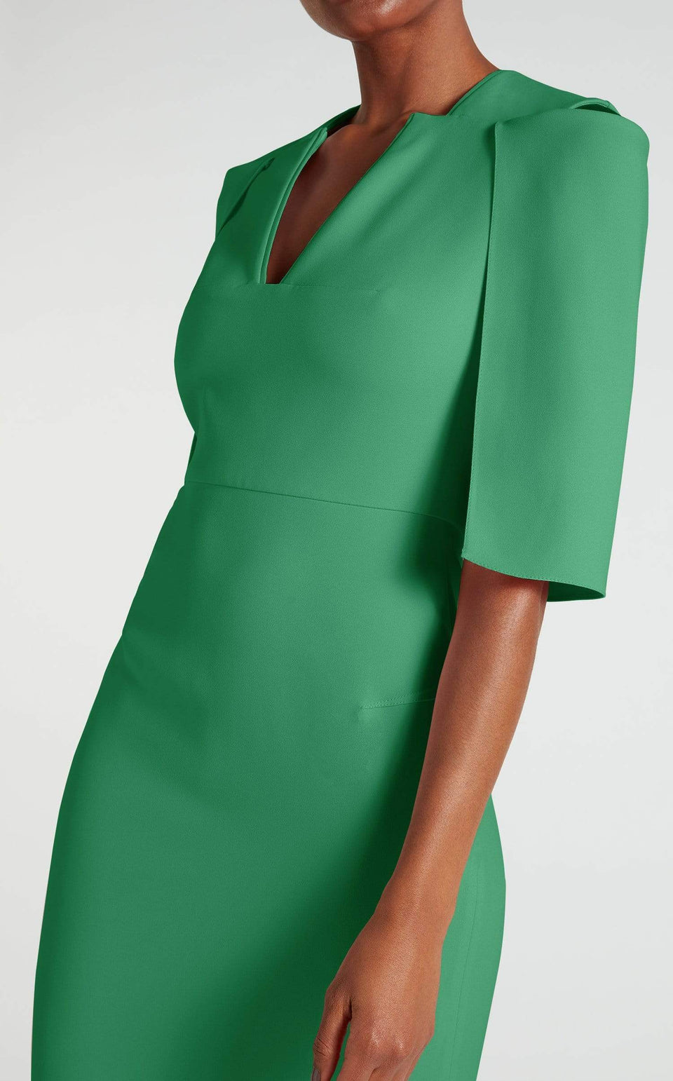 Queensbury Dress In Emerald Green from Roland Mouret
