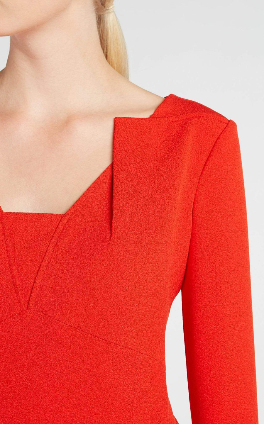 Strand Top In Poppy Red from Roland Mouret