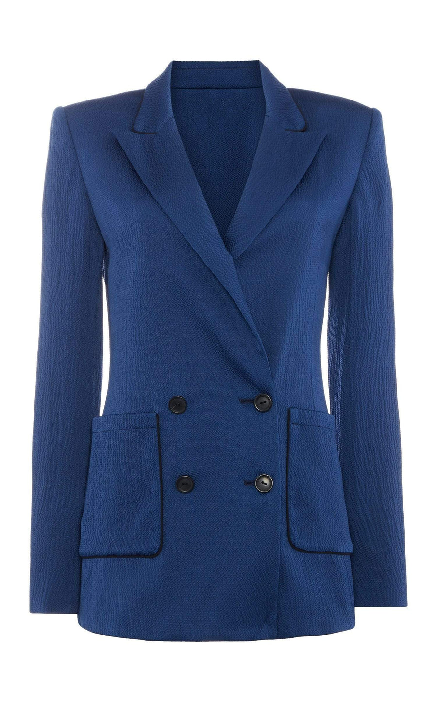Talbot Jacket In Ultramarine/Navy from Roland Mouret