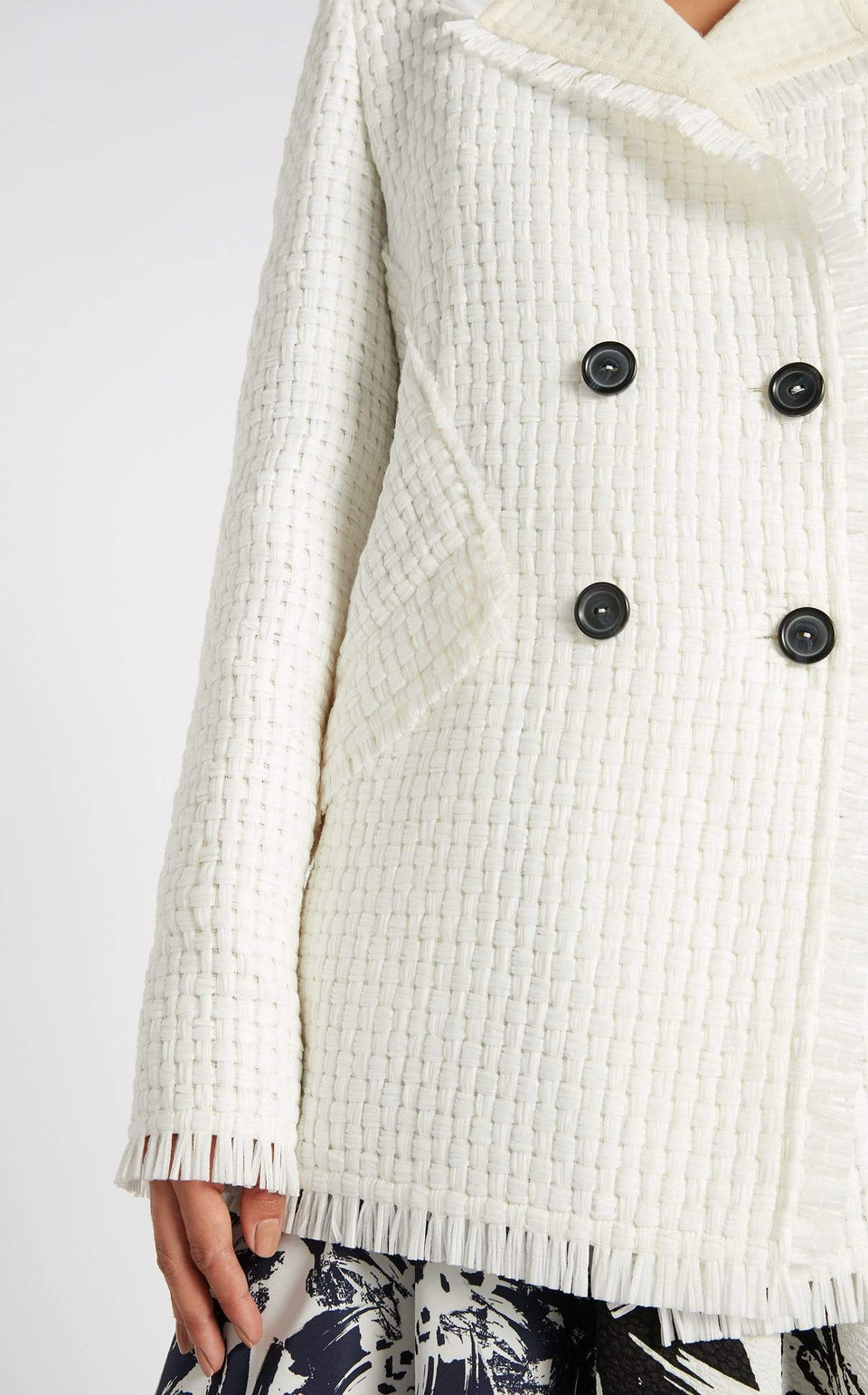 Thaxter Jacket In White from Roland Mouret