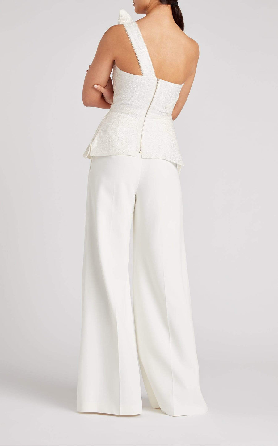 Uppingham Trouser In White from Roland Mouret