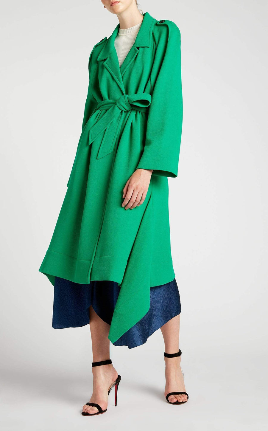 Victor Coat In Emerald from Roland Mouret
