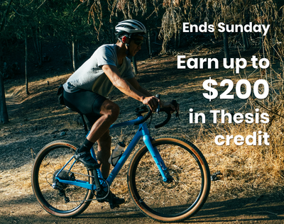 Order a Thesis OB1 bike and earn up to $200 in Thesis credit.
