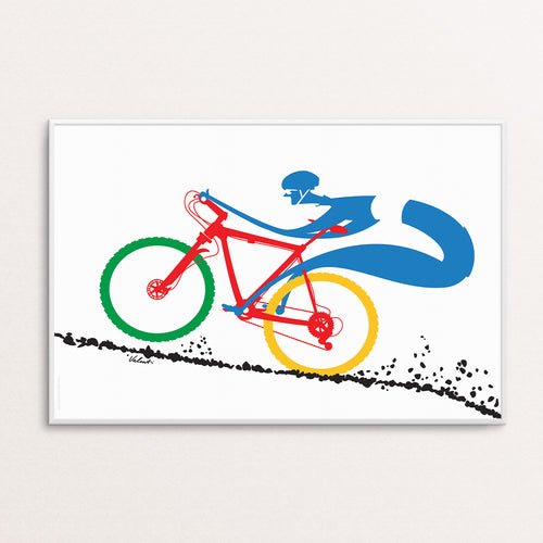 Downhill Poster Print