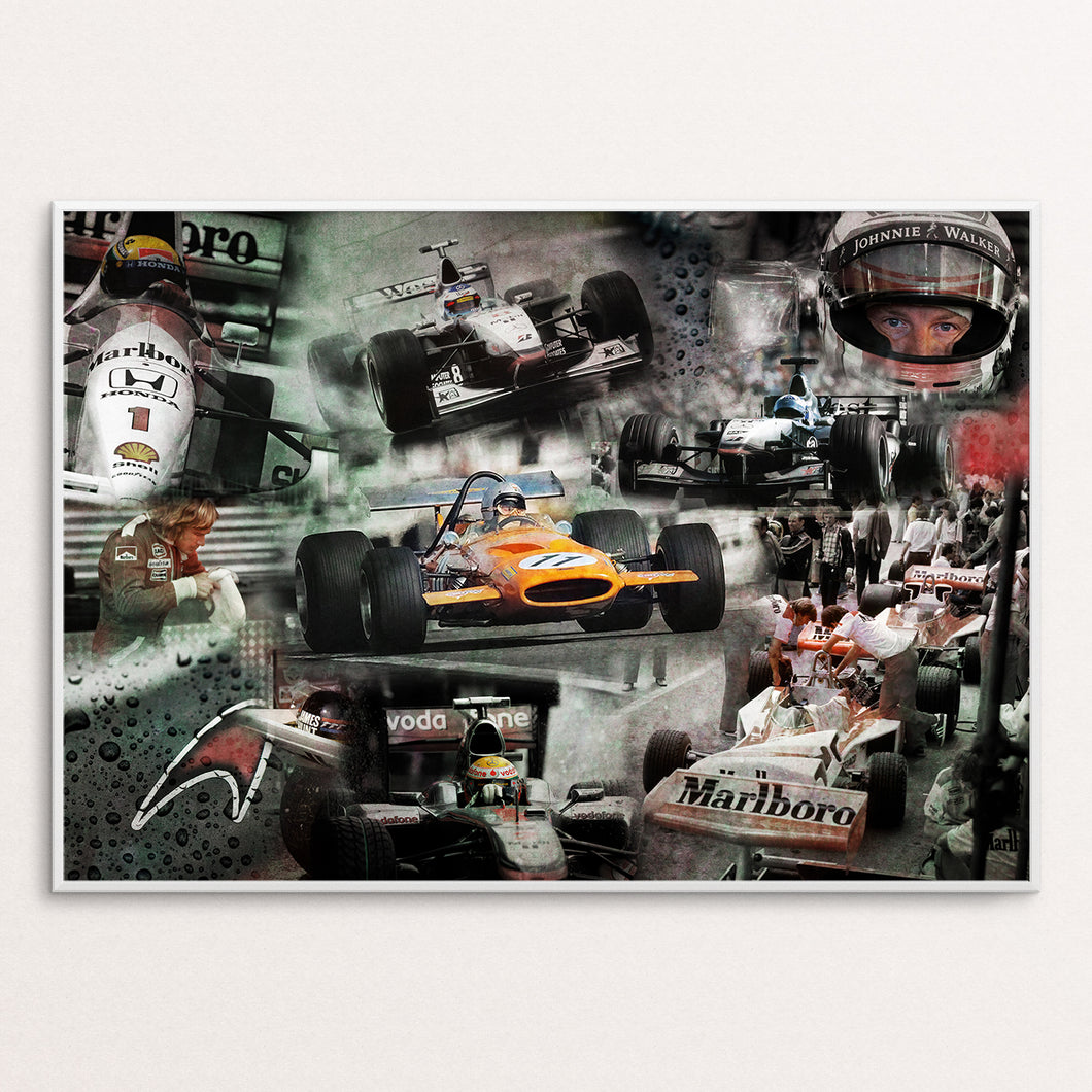 Mclaren Legends Poster Print