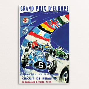 Reims 1951 Poster Print