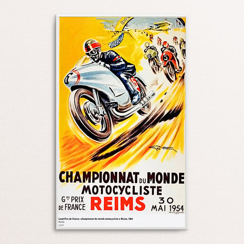 Reims 1954 Poster Print