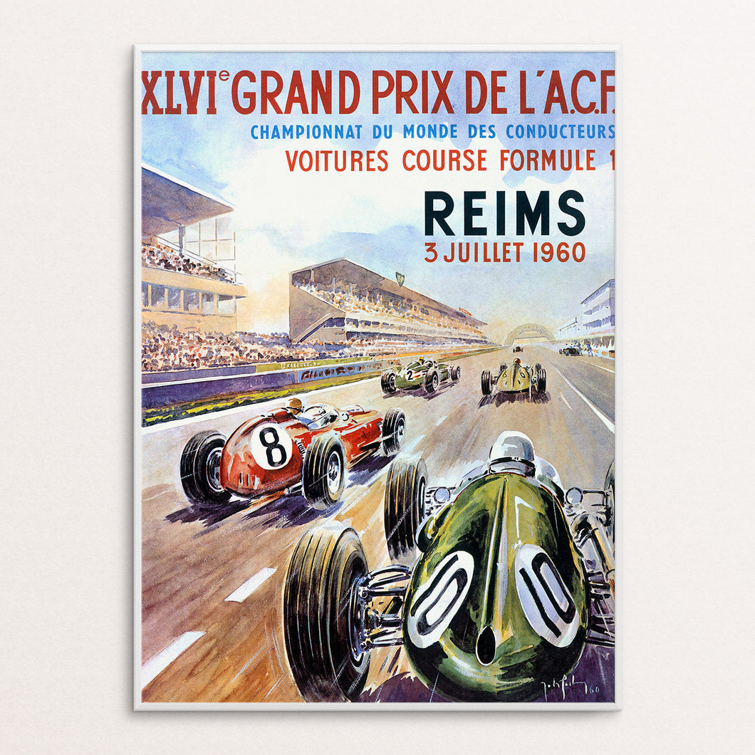 Reims 1960 Poster Print