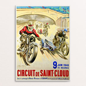 Saint Cloud 1946 Poster Print