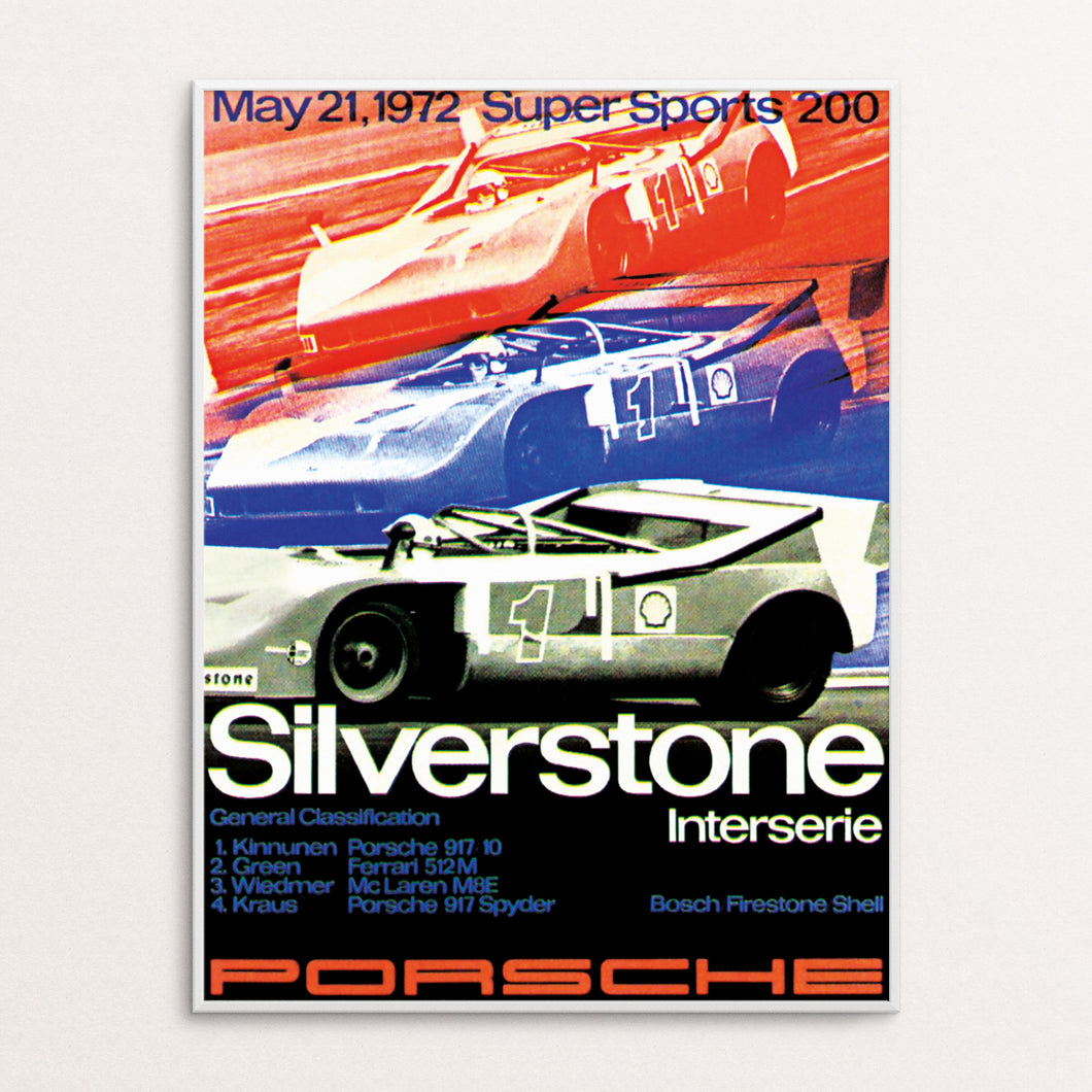 Silverstone 1972 Poster Print