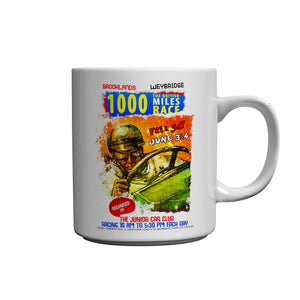 Brooklands To Weybridge 1000 Miles Race Ceramic Mug