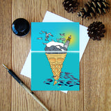 Bass Rock Ice Cream greeting card
