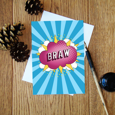 Braw Greeting Card