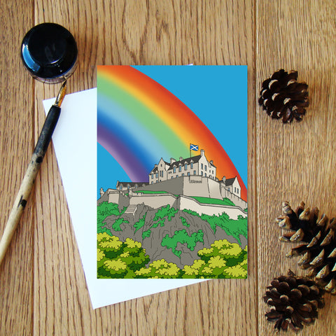 Castles & Rainbows (Edinburgh) greeting card