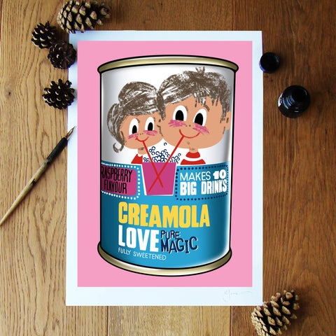Creamola Love (Pure Magic) illustration signed A3 print