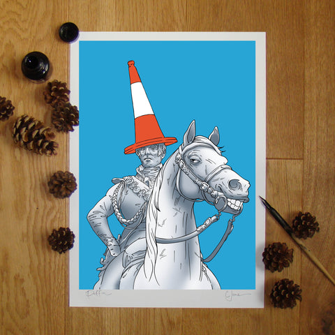 Duke of Wellington illustration signed A3 print