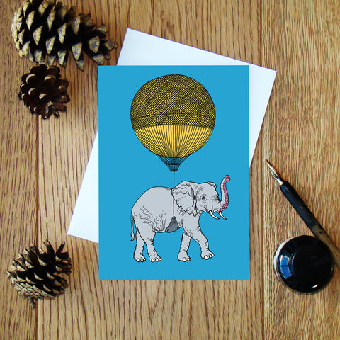 Elephant & Balloon greeting card