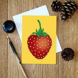 Giant Strawberry greeting card