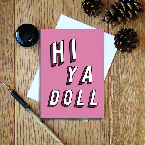 Hiya Doll greeting card