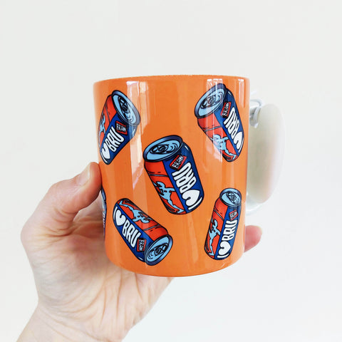I Love Bru (multiple cans) illustrated mug