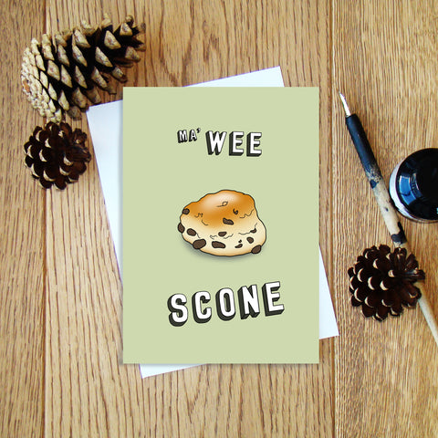 Ma' Wee Scone greeting card