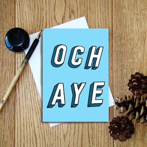 Och Aye greeting card
