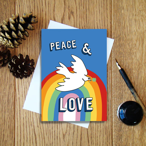Peace & Love greeting card