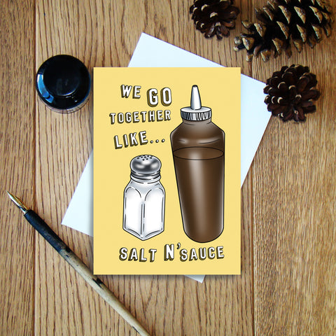 Salt N'Sauce greeting card
