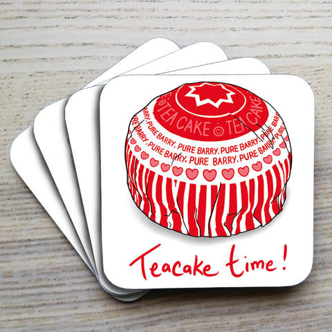 Teacake time! Coaster Set (pack of 4)