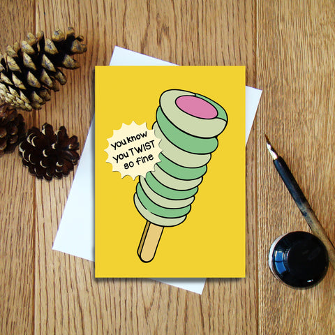 You Twist so Fine greeting card