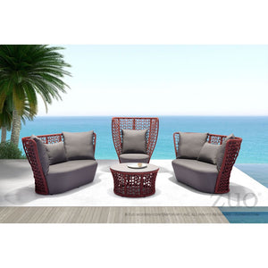 Faye Bay Beach Cranberry Gray - Suave Home