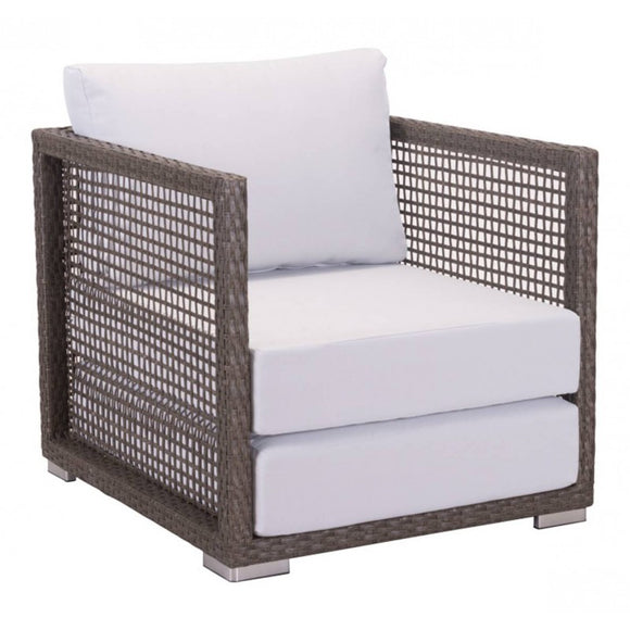 Coronado Arm Chair Cocoa & Light Gray - Suave Home