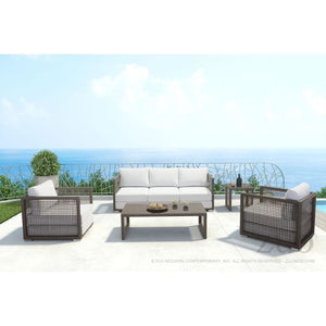 Coronado Sofa Cocoa and Light Grey - Suave Home