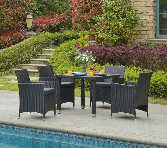 Mcnew 5 Piece Outdoor Dining Set with Cushion - Suave Home