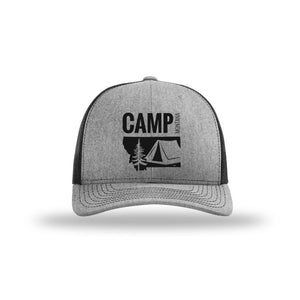 CAMP MONTANA - SNAPBACK HAT - HEATHER/BLACK