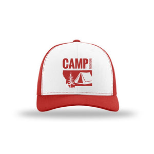 CAMP MONTANA - SNAPBACK HAT - RED/WHITE
