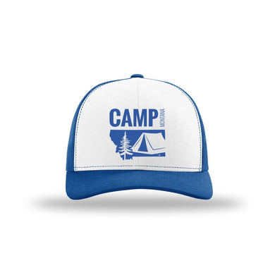 CAMP MONTANA - SNAPBACK HAT - ROYAL/WHITE