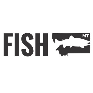Fish Montana - Truck Decal - Vinyl Transfer Sticker