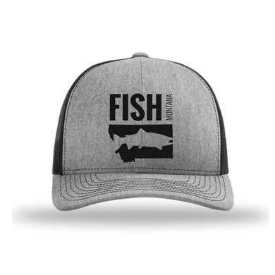 FISH MONTANA - SNAPBACK HAT - HEATHER GRAY/BLACK