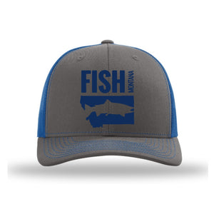 FISH MONTANA - SNAPBACK HAT - CHARCOAL/ROYAL