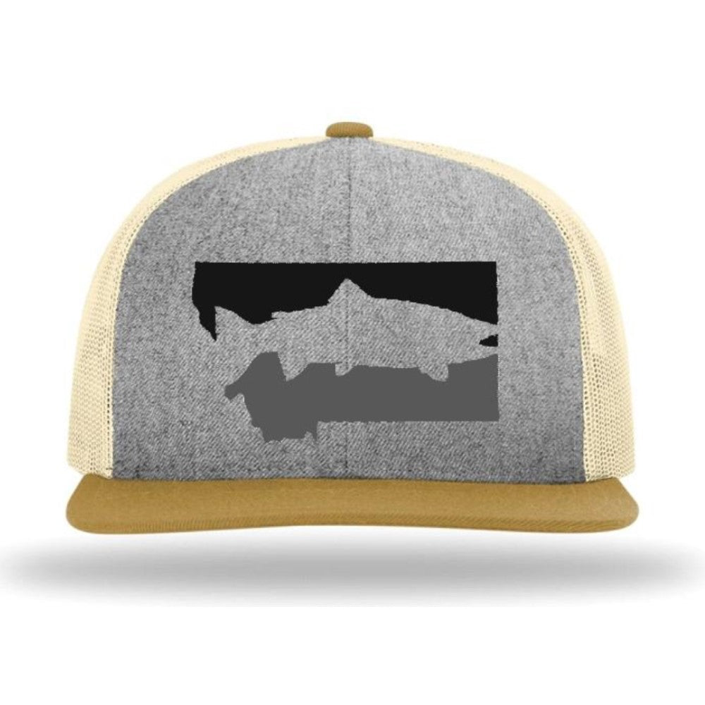 FISH MONTANA - SNAPBACK HAT - Heather Gray/Birch/Biscuit - FLATBILL MONTANA HAT