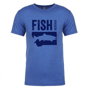 Fish Montana - T-Shirt - Vintage Royal/Navy