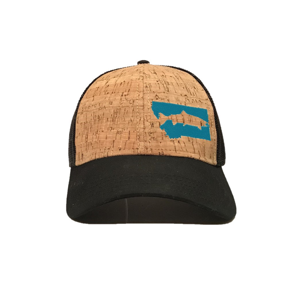 FISH MONTANA - SNAPBACK HAT - CORK/BLACK/TEAL