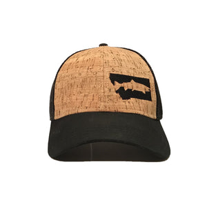 FISH MONTANA - SNAPBACK HAT - CORK/BLACK