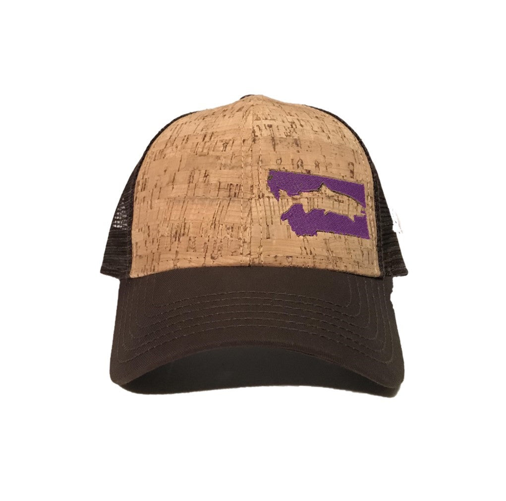 FISH MONTANA - SNAPBACK HAT - CORK/BROWN/PURPLE