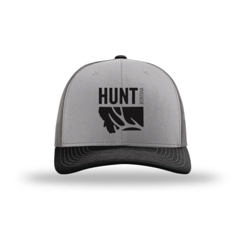 bdfa23e68eb Hunt Montana - Snapback Hat - Grey Charcoal Black